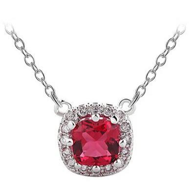 Red CZ Crystal Necklace-Azure Red