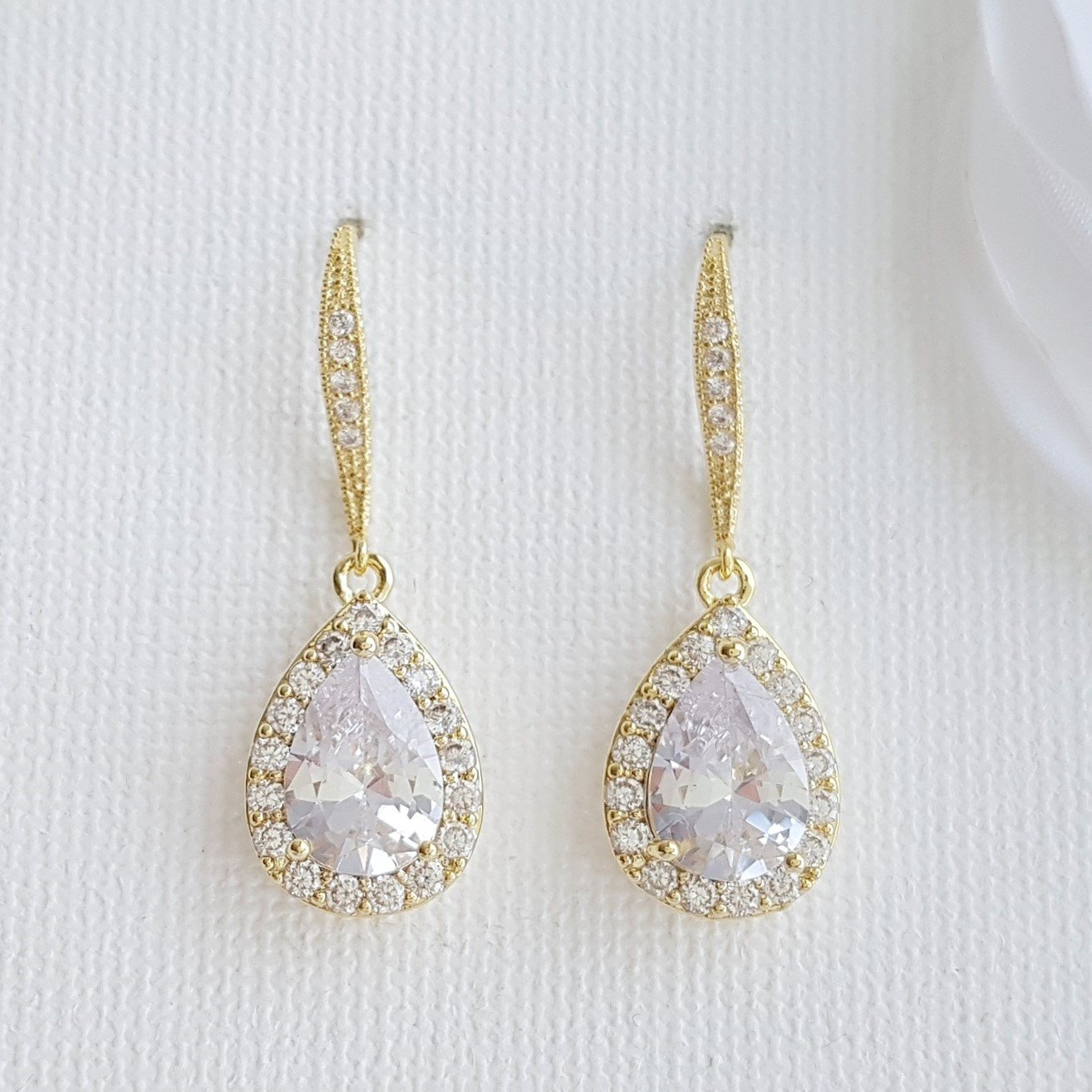 Gold Dangle Earrings-Emma