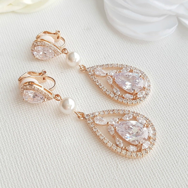 Ear Clip Earrings-Esther