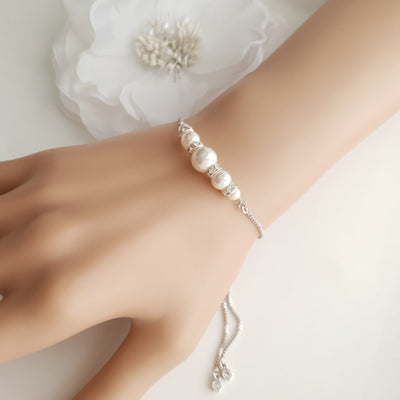 Adjustable Bridesmaids Pearl Bracelets