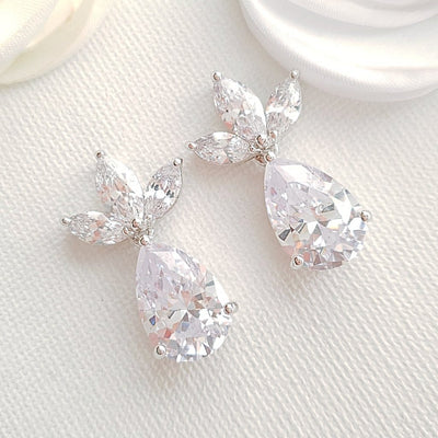 Drop Crystal Earrings-Marissa