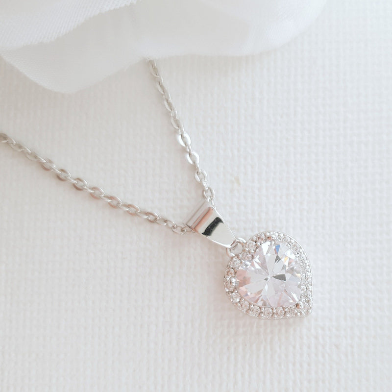 Rose Gold Heart Necklace- Diana
