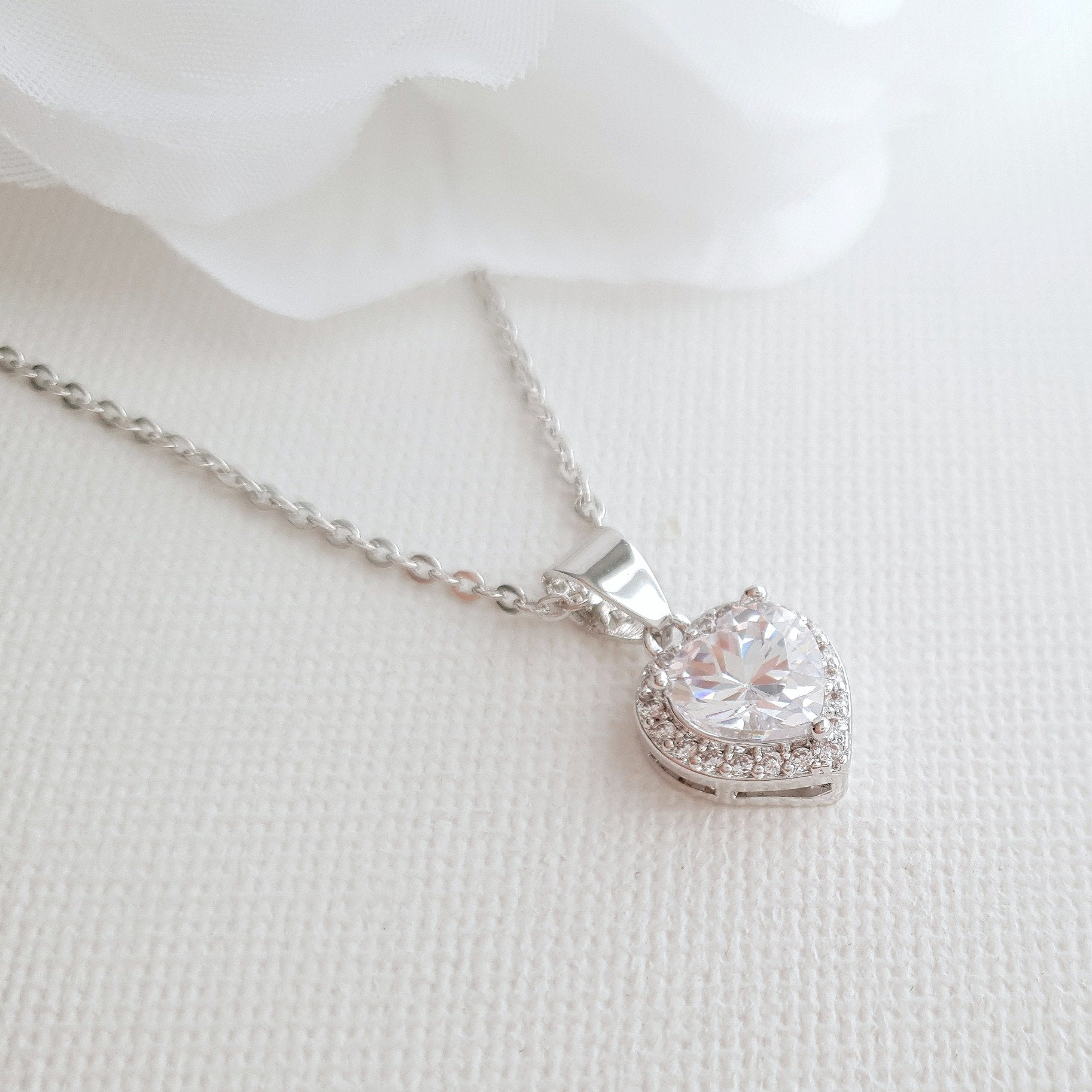 Gift a Heart Pendant Necklace- Diana - PoetryDesigns