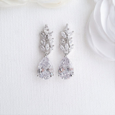 Silver Leaf Earrings-Willow