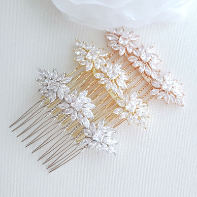 Small Wedding Veil Comb- Bridget