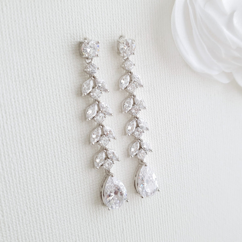 Marquise Earrings for Weddings- Kira