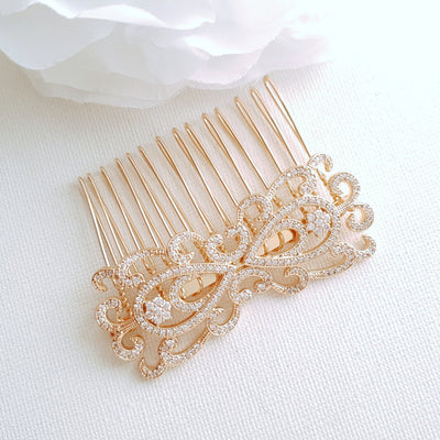 Gold Bridal & Wedding Hair Comb-Arletty