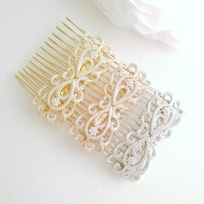 Small Art Deco Bridal Hair Comb-Arletty