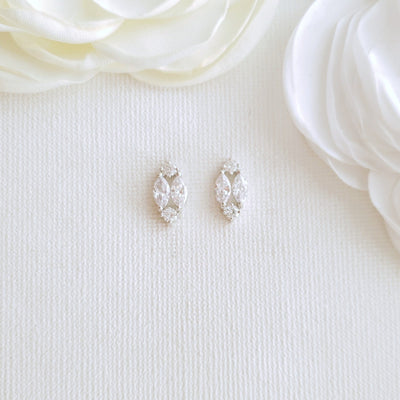 Diamond Shaped Stud Earrings-Hayley