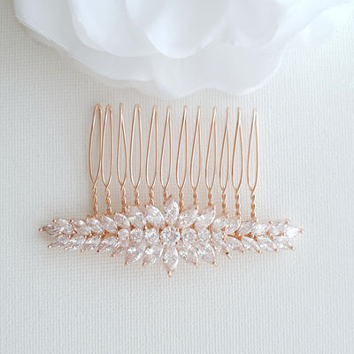 Crystal Wedding Hair Piece for Brides-Giselle