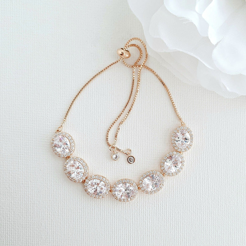 Bracelet for Brides in Rose Gold- Emily