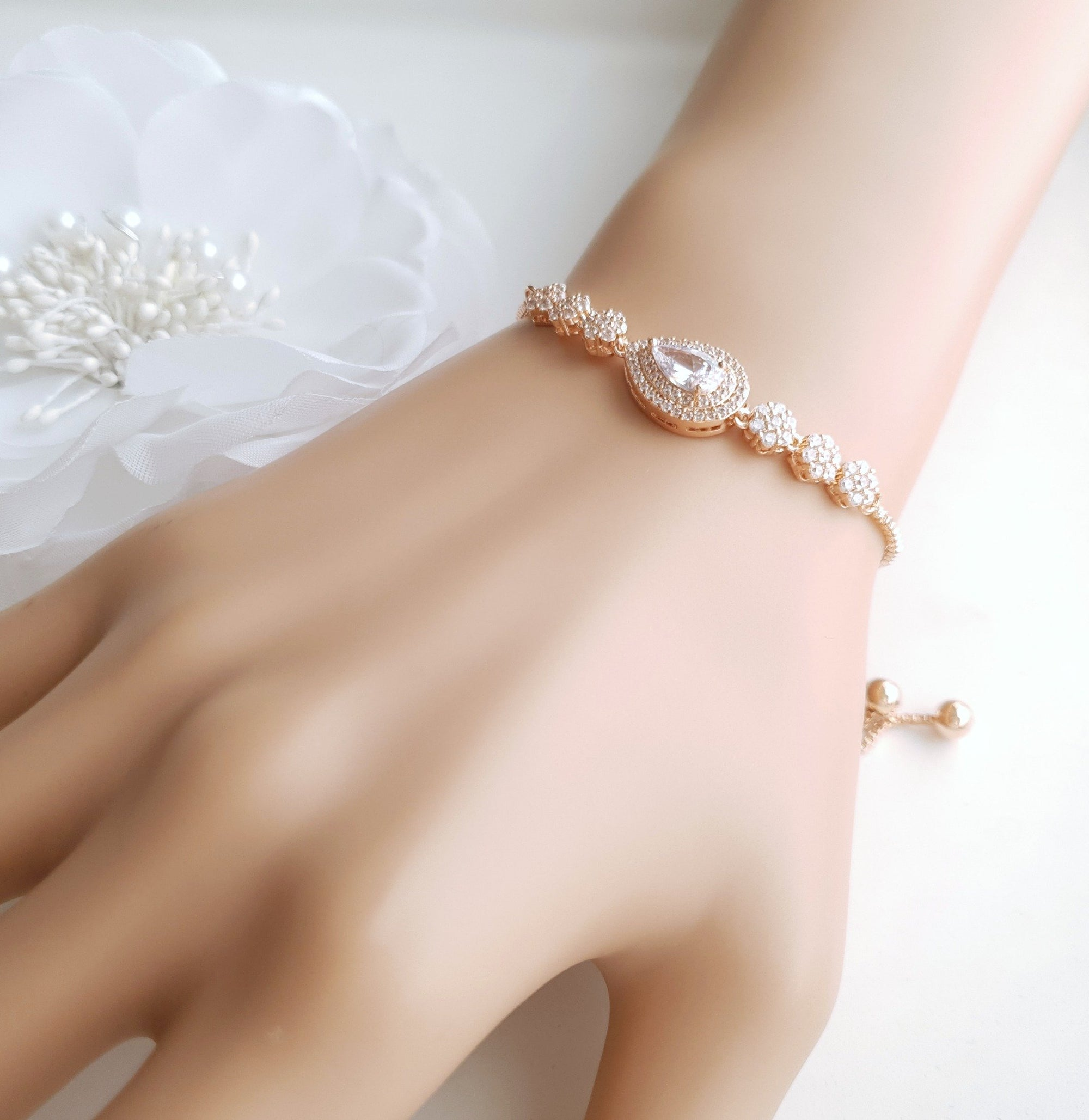 Wedding Slider Bracelet- Joni - PoetryDesigns