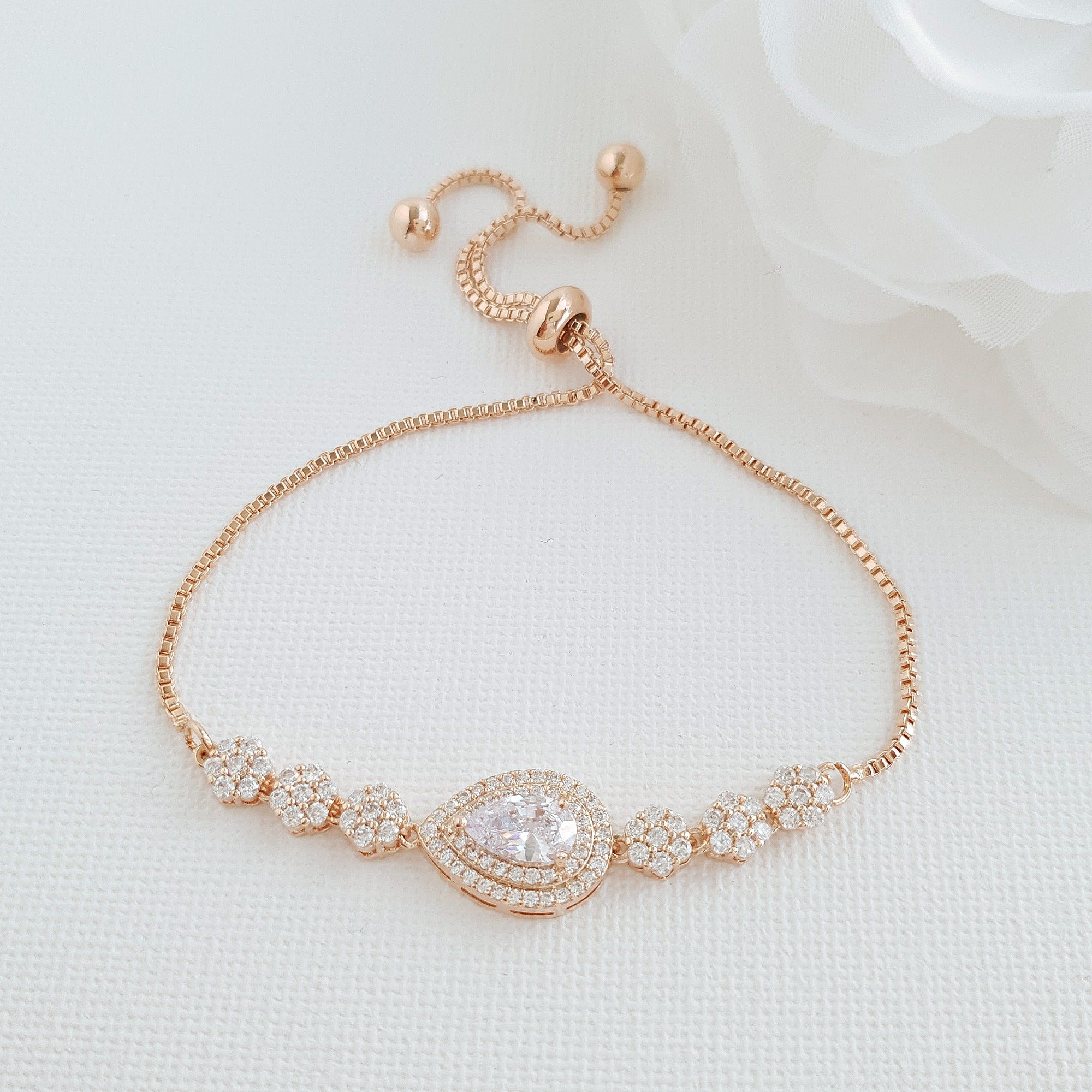 Rose Gold Slider Bracelets - Joni