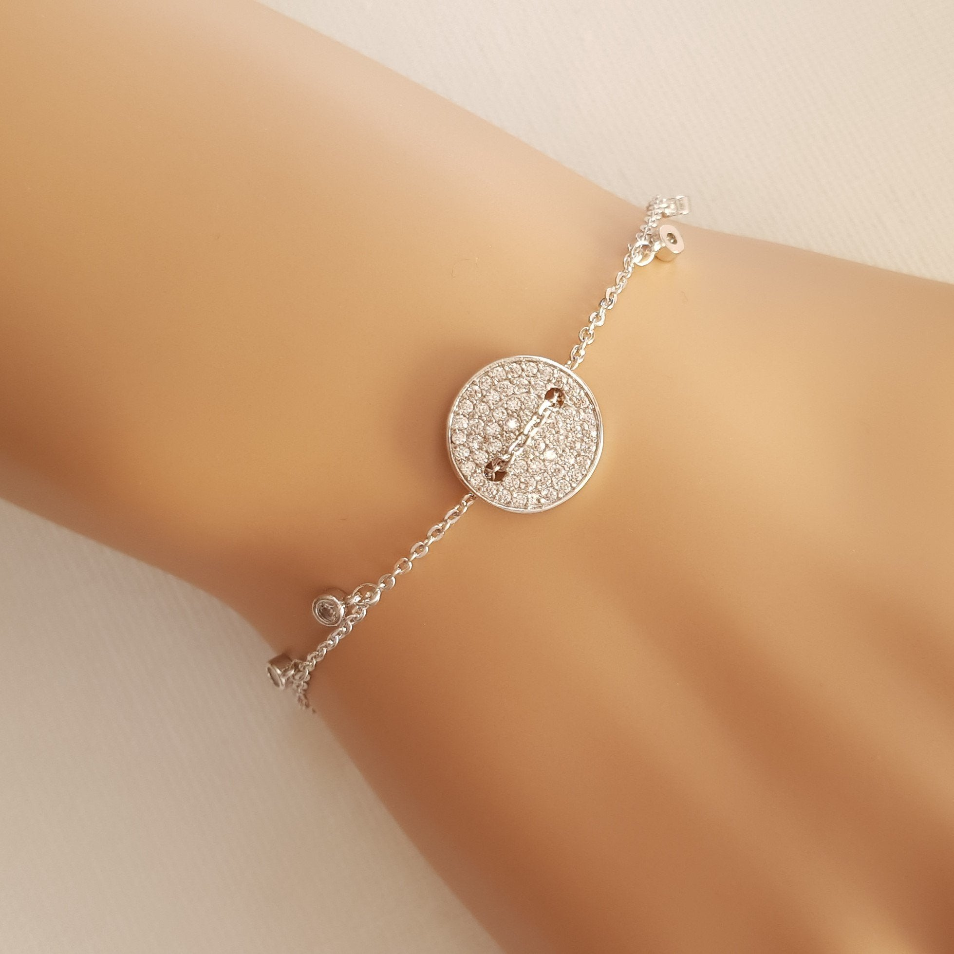 Chain Charm Silver Bracelet-Beatrice