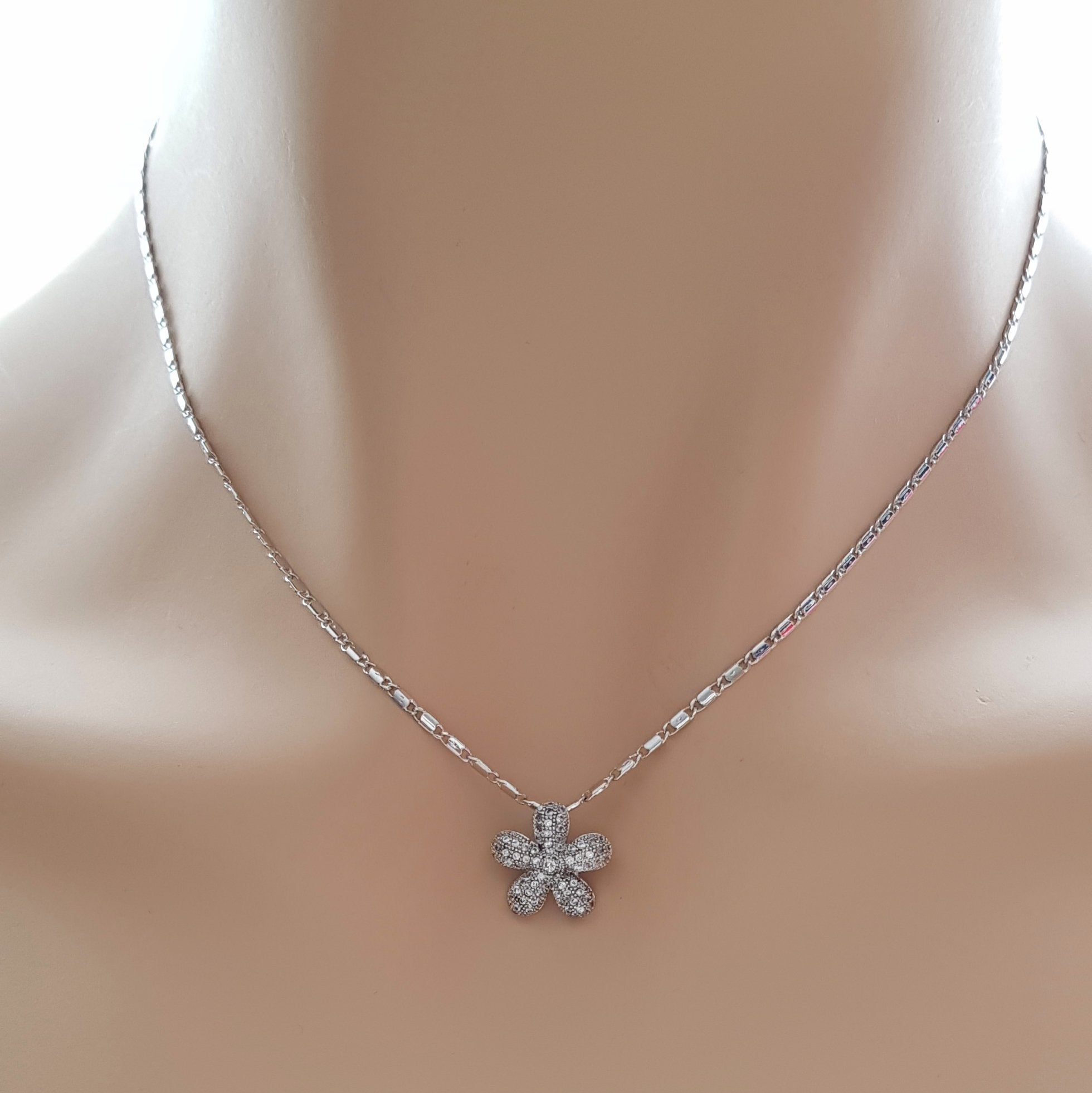 Small Flower Necklace-Bloom - PoetryDesigns