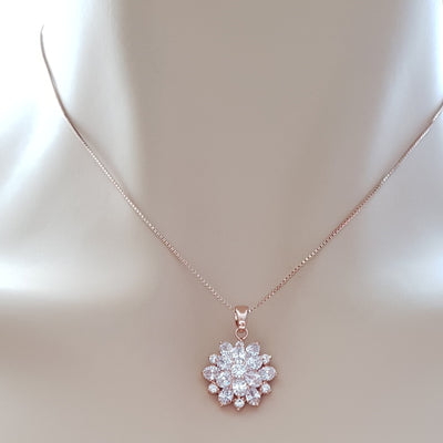 Rose Gold Flower Pendant-Floret