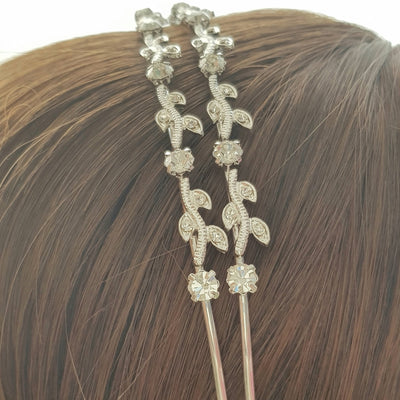 Small leaf Bridal Headband-Franny