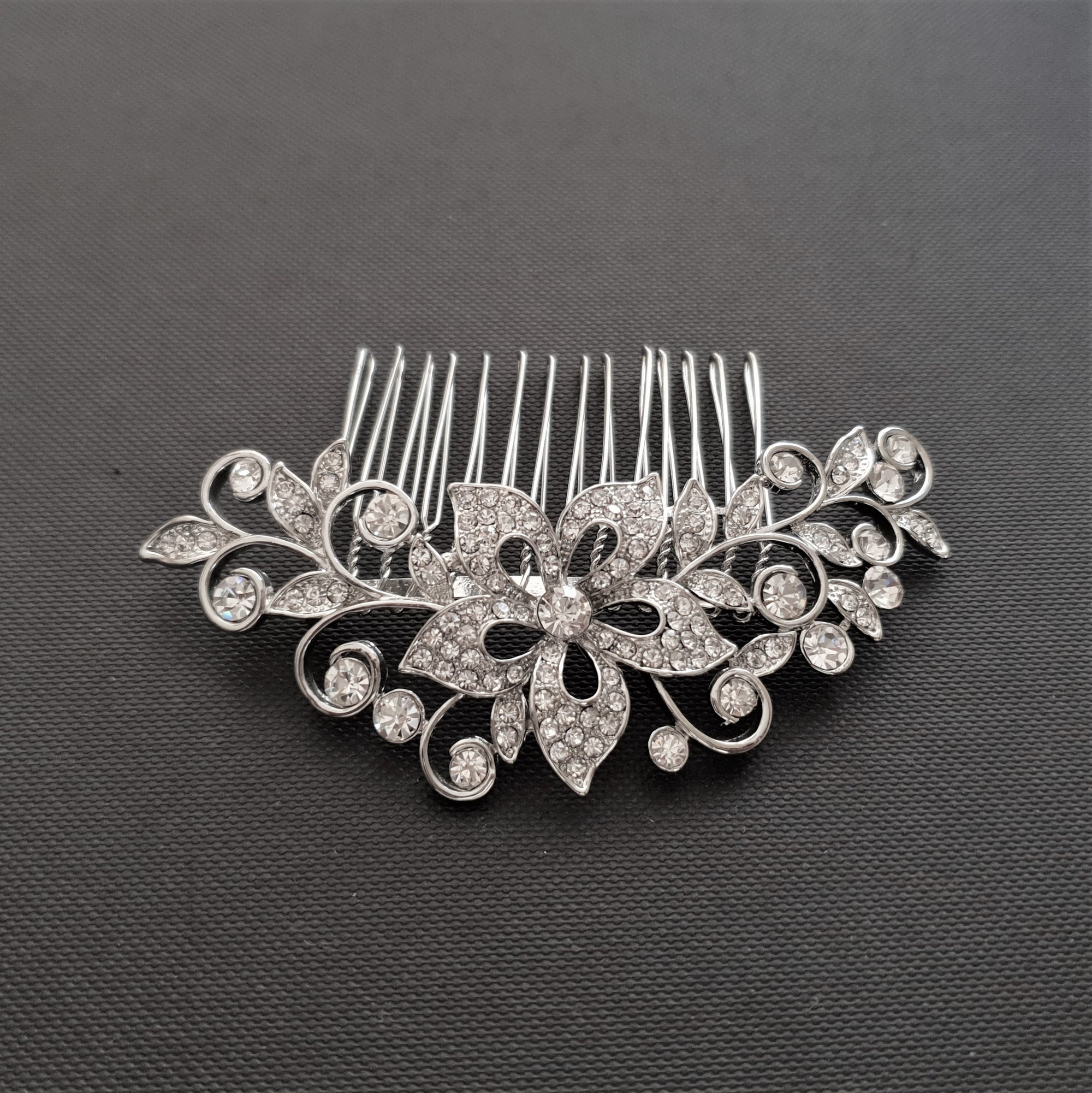 Crystal Flower Vintage Bridal Hair Comb-Fiore