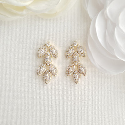 Gold wedding Jewelry Set-Abby
