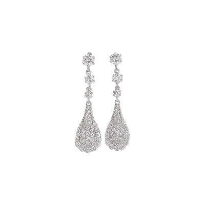 Pear Shaped Drop Earrings for Brides-Chloe