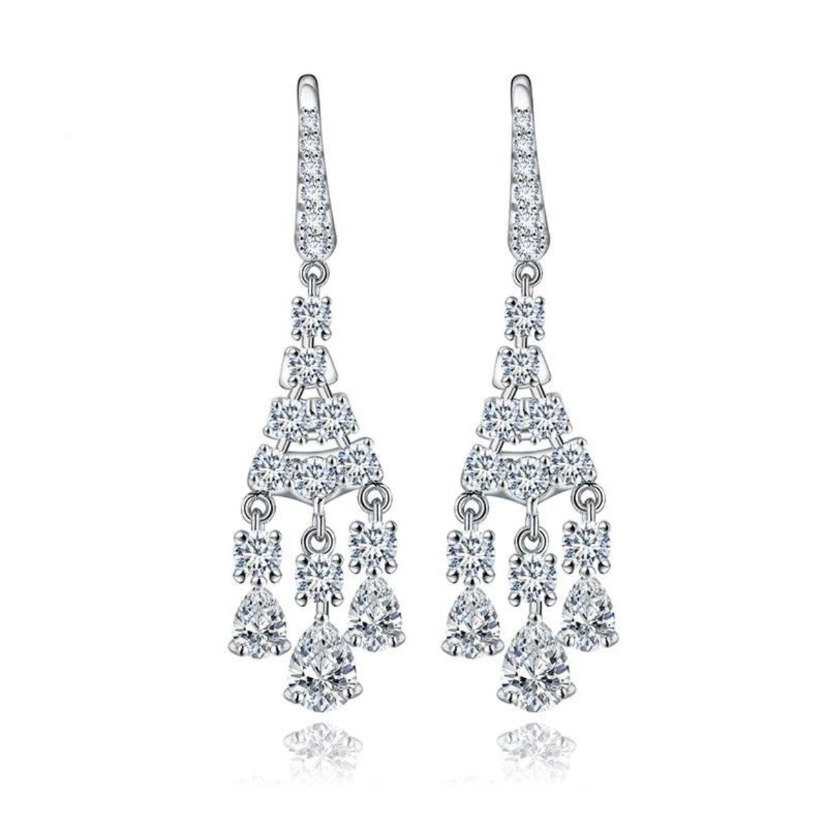 Simple Dangle Chandelier Earrings for Weddings & Events