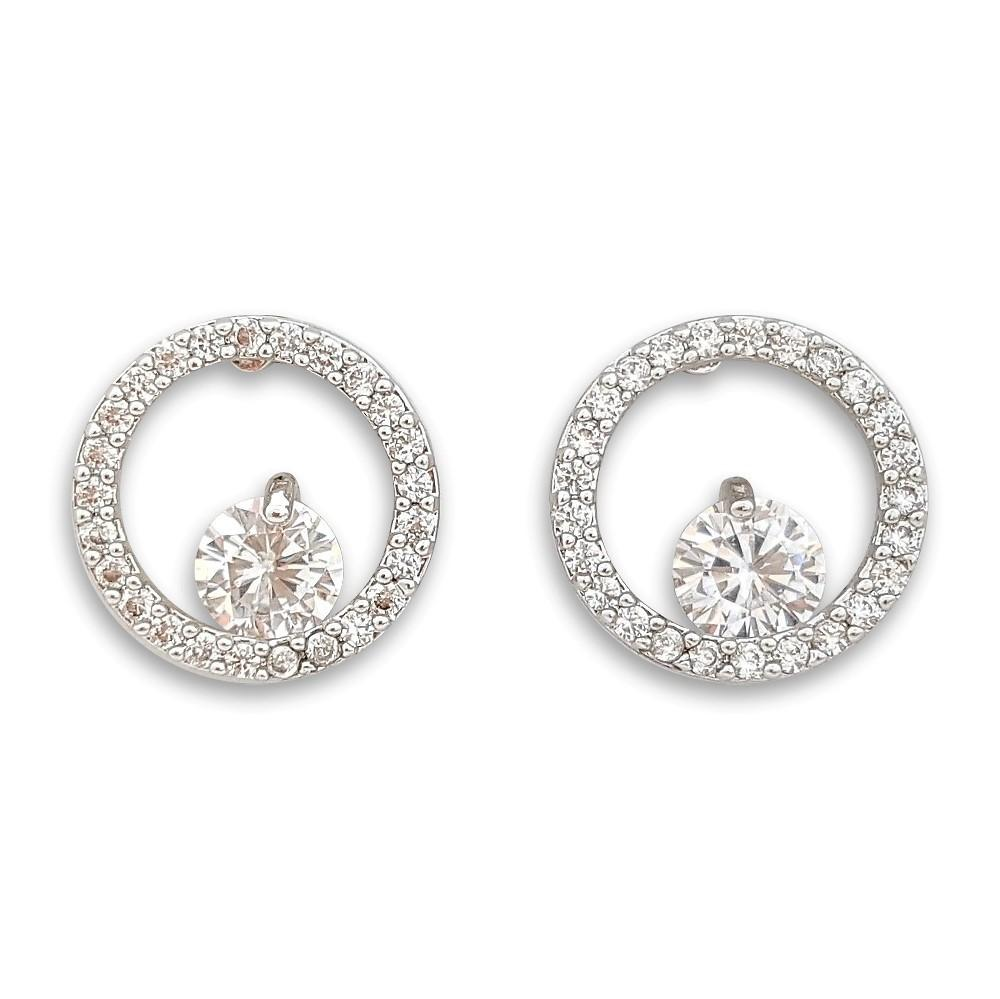Circle Stud Earrings for Girls- Heidi