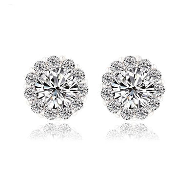 Cubic Zirconia Earrings Studs Florence