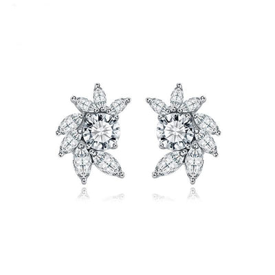 Flower Earrings Studs-Nina
