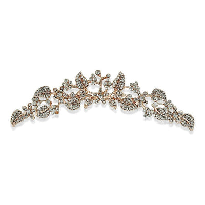 2 in 1 use it as Rose Gold Tiara or Rose Gold Hair Comb in Bridal Hairstyles