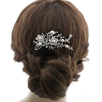 Pearl and Crystal Wedding Haircomb