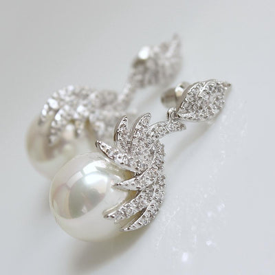 Faux Pearls Earrings for Weddings and Brides