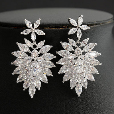 Crystal Drop earrings for Brides