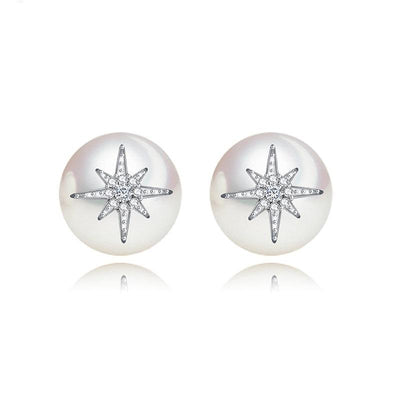 Large Pearl stud Earrings- Leah