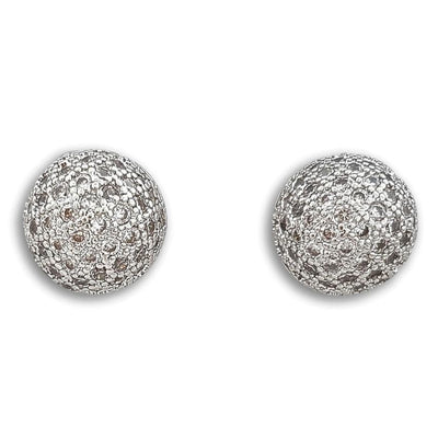 Pave Stud Earrings Pamela