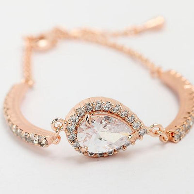 Rose Gold Teardrop Bracelet Ellie