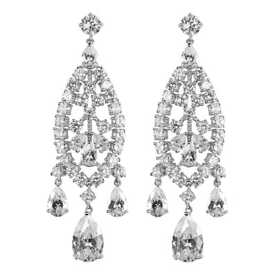 Silver Chandelier Earrings- Courtney