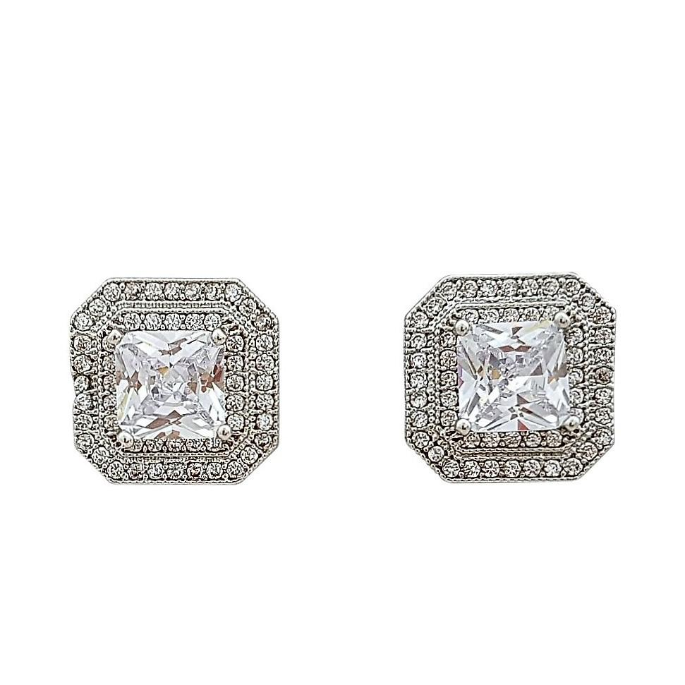 Square Cubic Zirconia Earrings Rita
