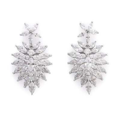 crystal Bridal Earrings in Cubic Zirconia