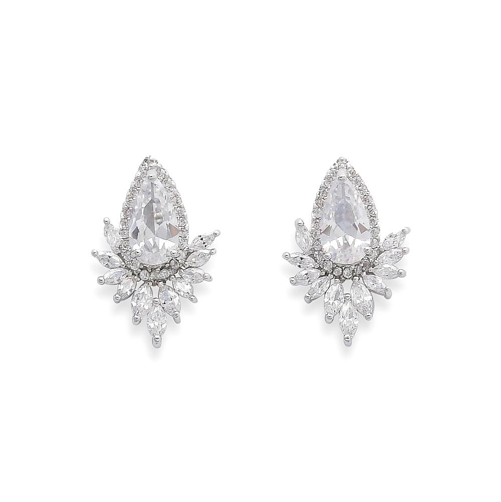 Starburst Cubic Zirconia Stud Earrings