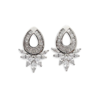 Cubic Zirconia Oval Earrings studs