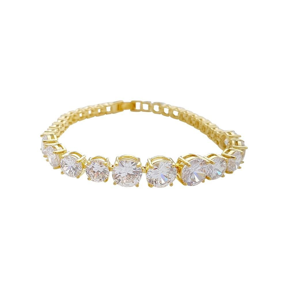 Yellow Gold Bracelet in Cubic Zirconia Nora