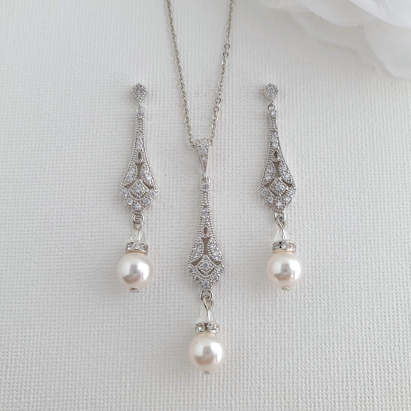 Vintage Inspired Wedding Jewelry Set- Lisa - PoetryDesigns