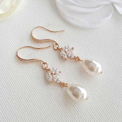 Pearl Dangle Earrings- Leila