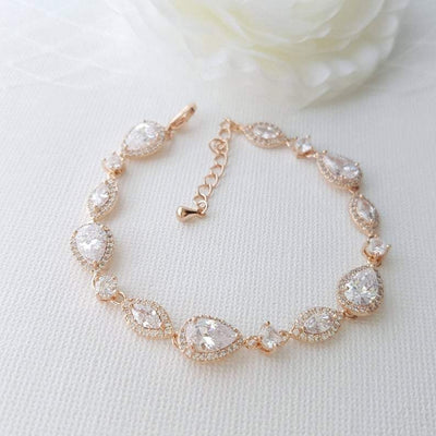 Gold Wedding Bracelet- Abby
