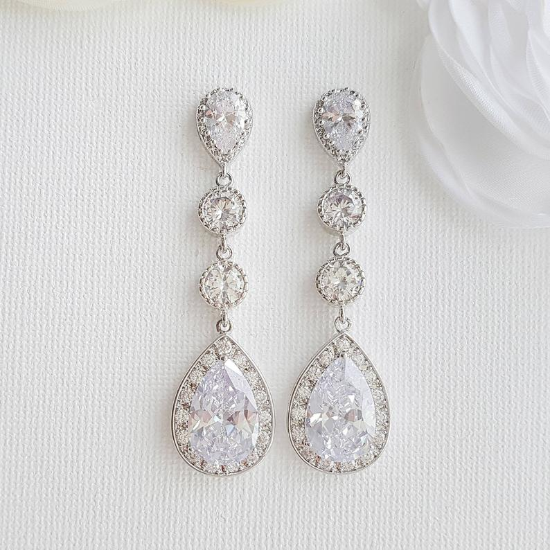 Long earrings for brides- Poetry Designs