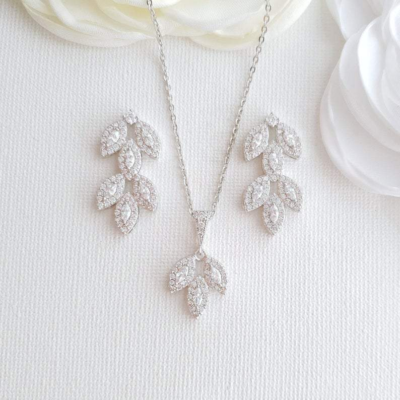 Crystal Wedding Jewelry Set-Abby
