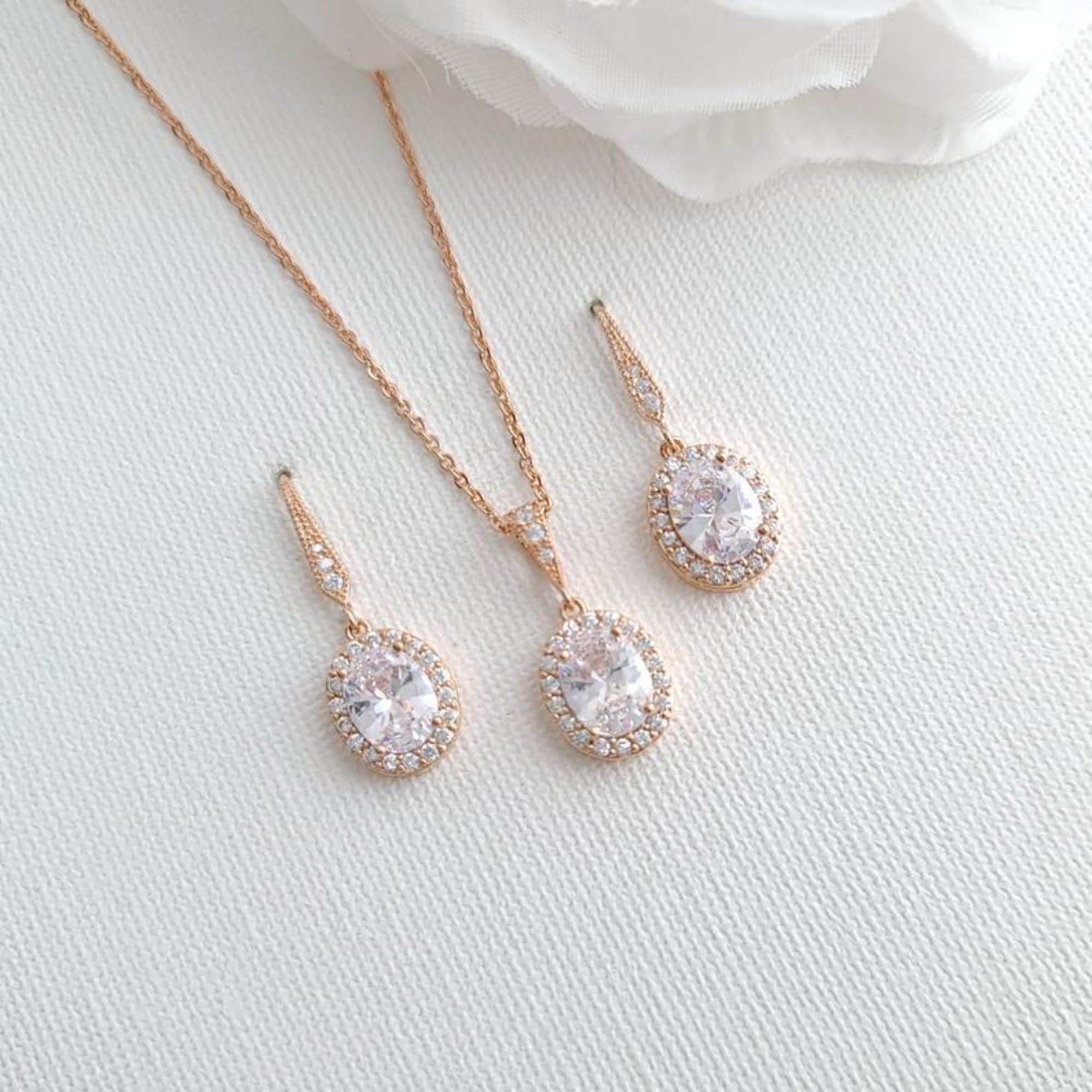 Bridesmaid Necklace and Earring Set- Poetry Designs