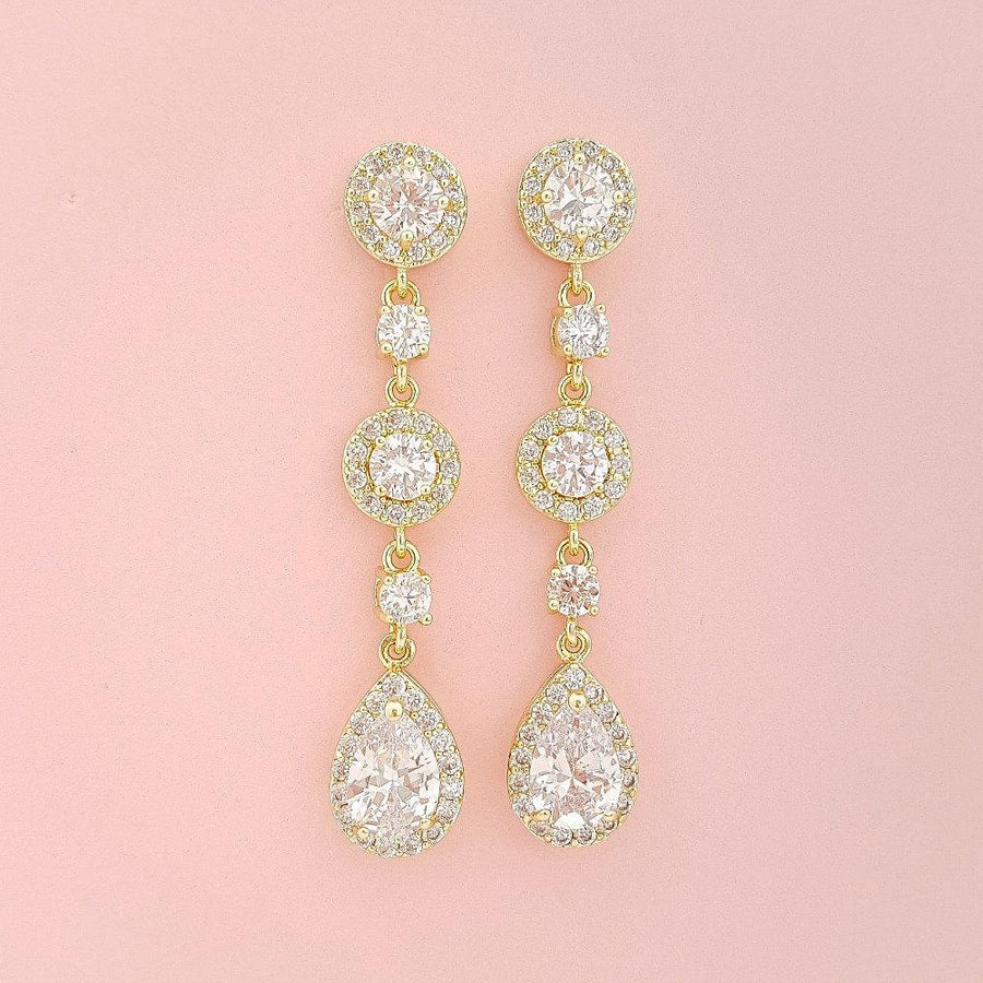 Gold Earrings |Gold Plated Earrings |Wedding Day Jewelry for the ...