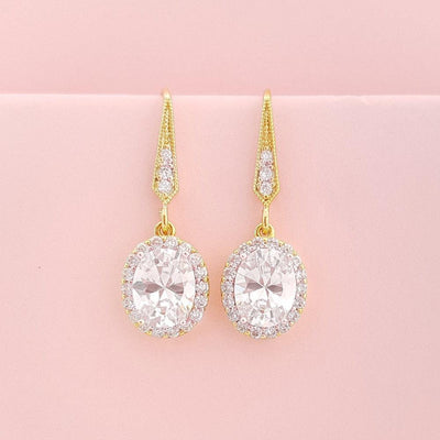 Gold Dangle Earrings for Weddings
