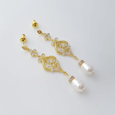 Vintage Gold Earrings for Weddings